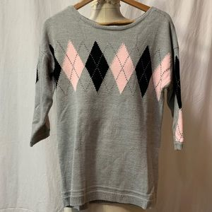 New York & Co sweater. Argyle pattern